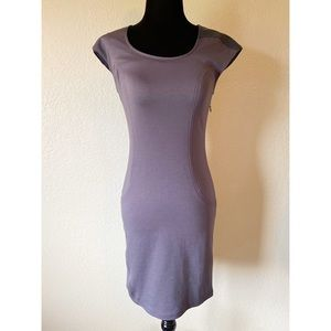 NWT! Theme gray dress with faux leather